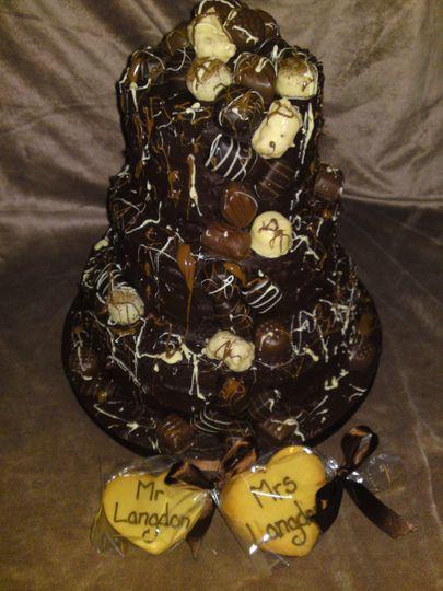 Truffles & Chocolate Wedding Cake