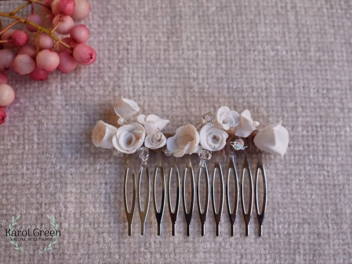 Roses hair comb