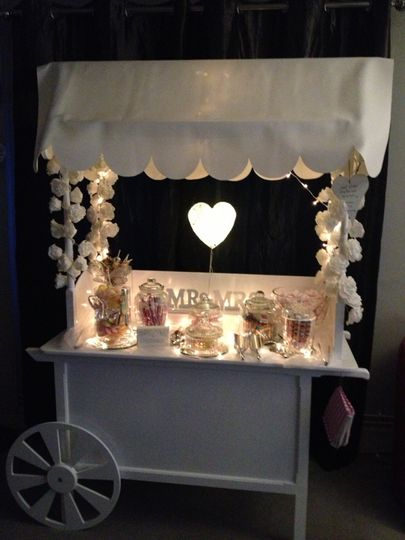 Classic vintage candy cart