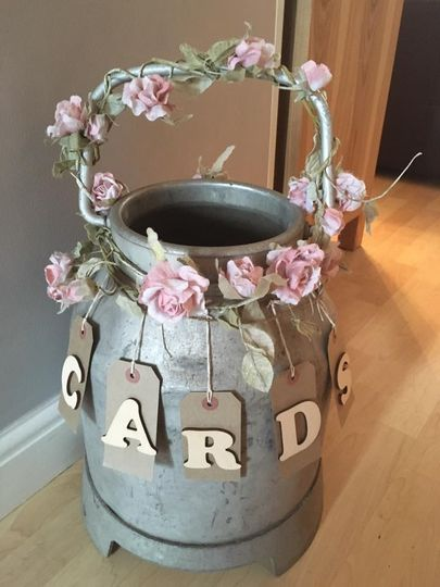 Rustic milk churn