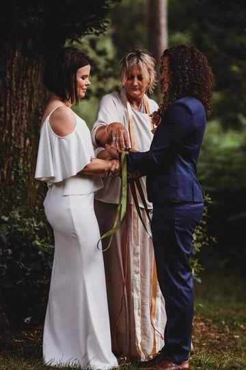 Outdoor ceremony in Devon