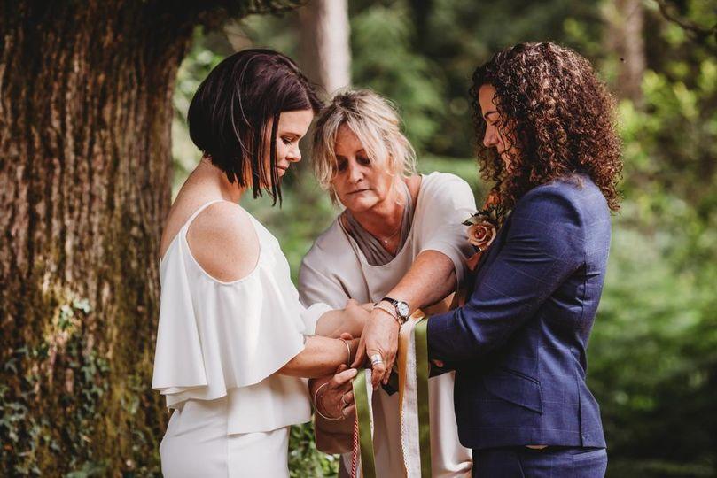 Ceremony in spiritual location