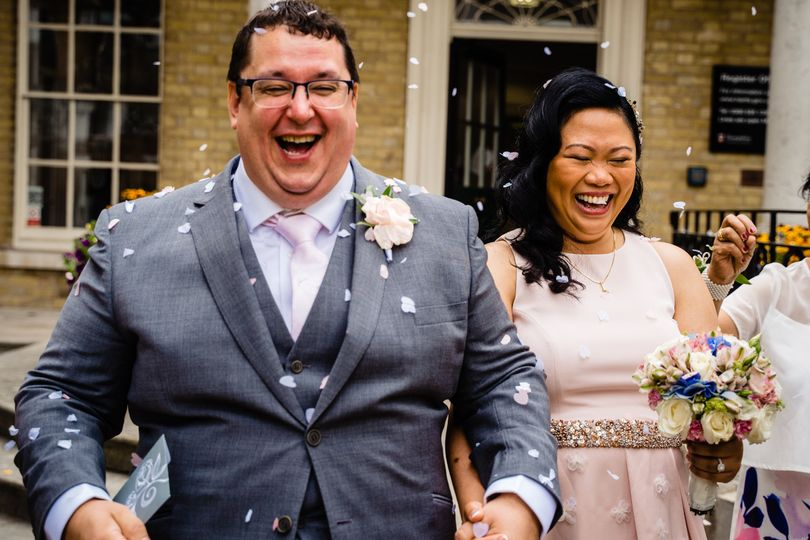 The 'just married' smiles