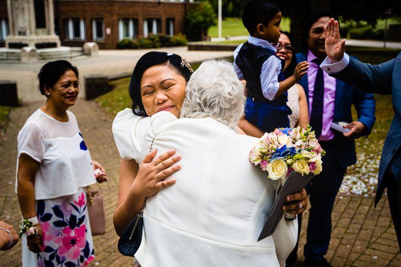 Those wedding hugs