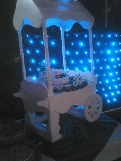 Mini candy cart table piece