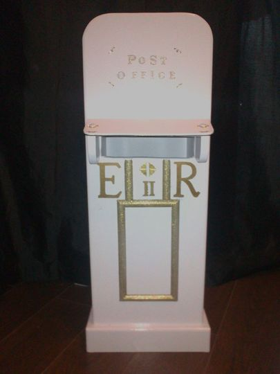 Post box card holder