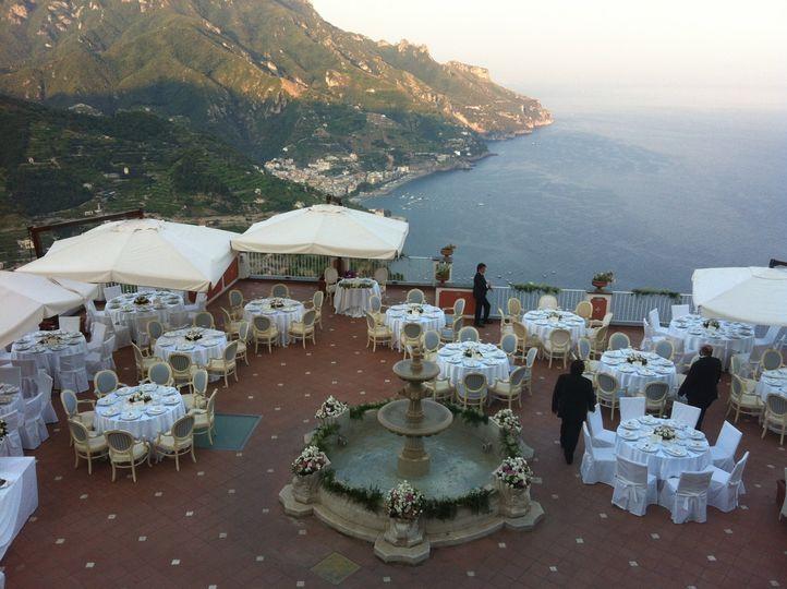 Romantic terrace for wedding