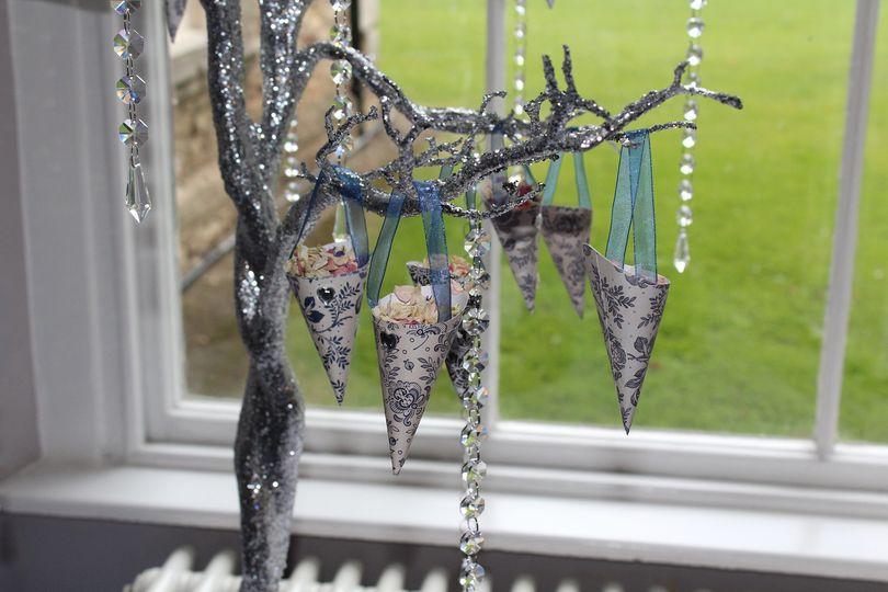 Confetti tree close up