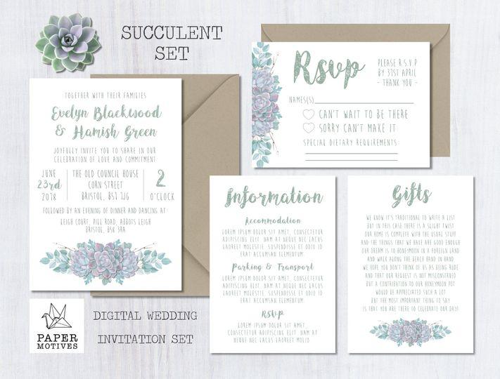 Succulent Range - Invitations