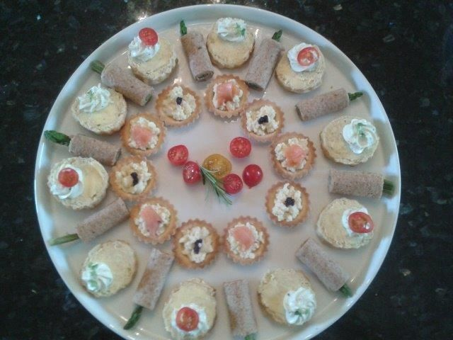 Platter of canapes