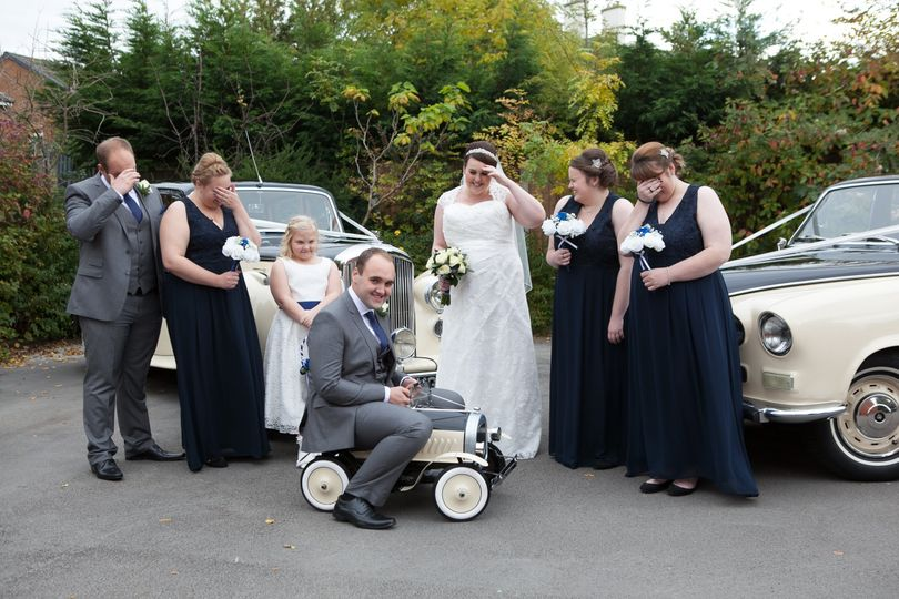 Groom letting the side down! h