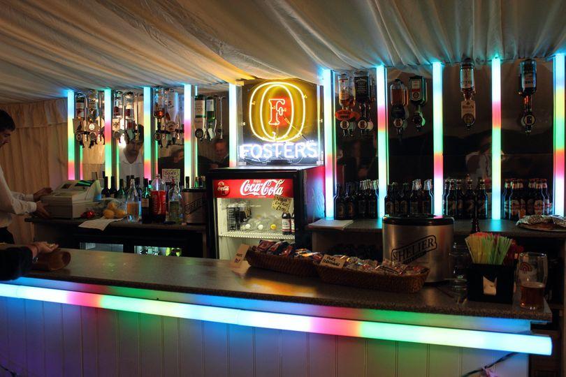 Retro neon  bar