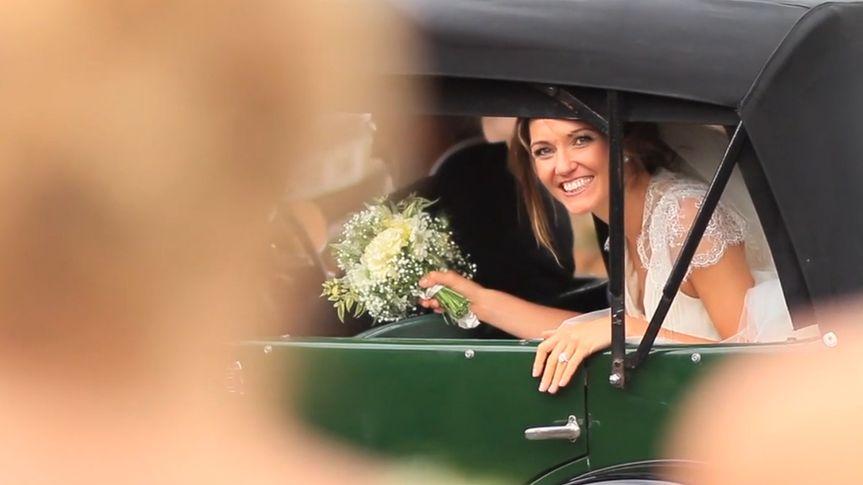 Bride leaving chruch