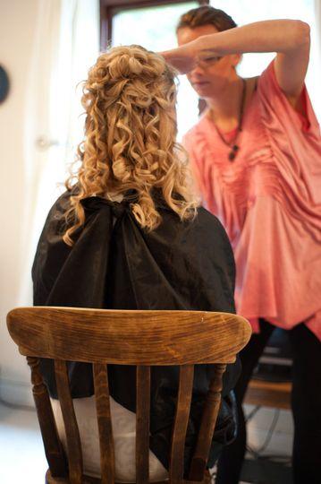 Half up, half down bridal hair