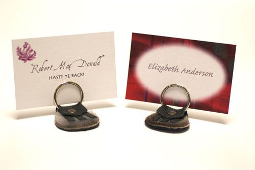 Place card holders made with the keyring