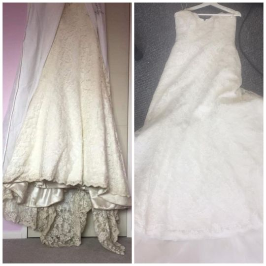 Lace dress lovingly restored