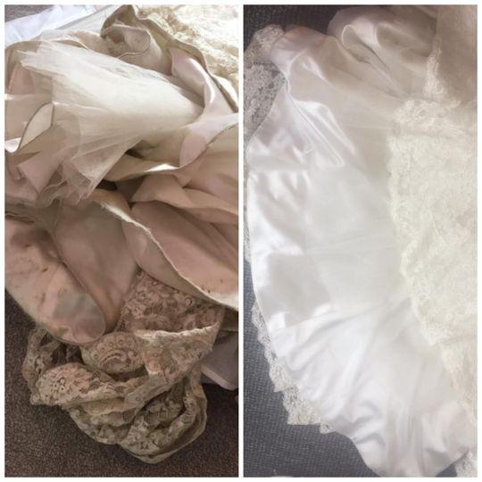 Transformed wedding gown