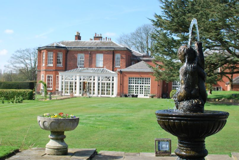 Dovecliff Hall Hotel and fountain