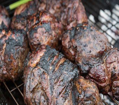 Smoked Roast legs of Lamb