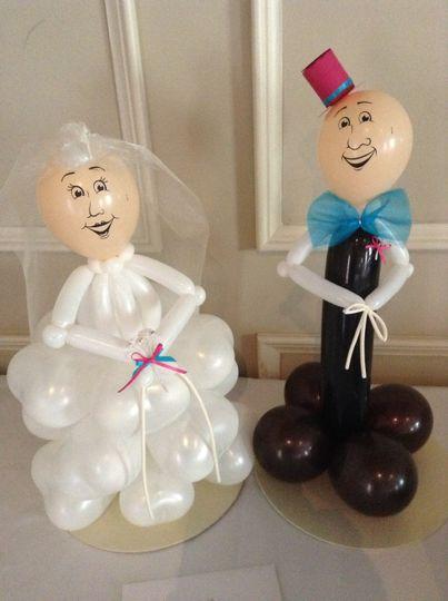 Tabletop bride and groom