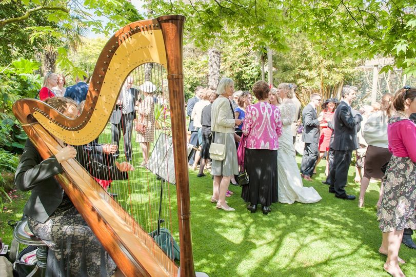 Harp at ceremony