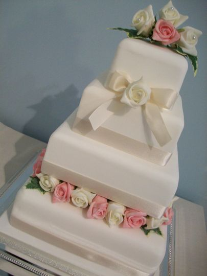 Amy with Pink and Ivory Roses