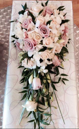 Romantic shower bouquets