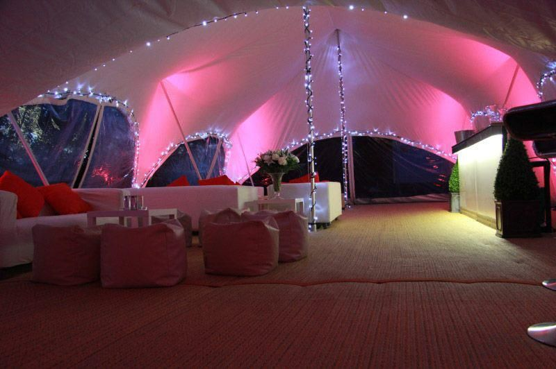 Marquee with seating