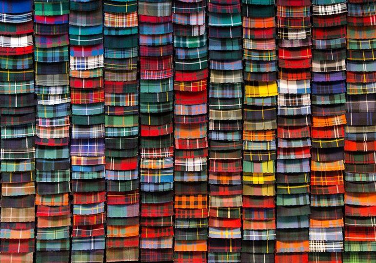 A wide range of tartans
