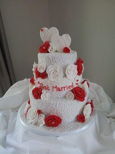 Wimsical wedding cake