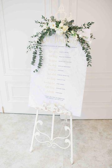 Wedding sign flowers