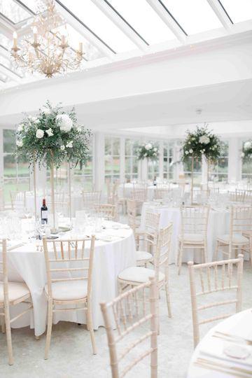 Bright white wedding