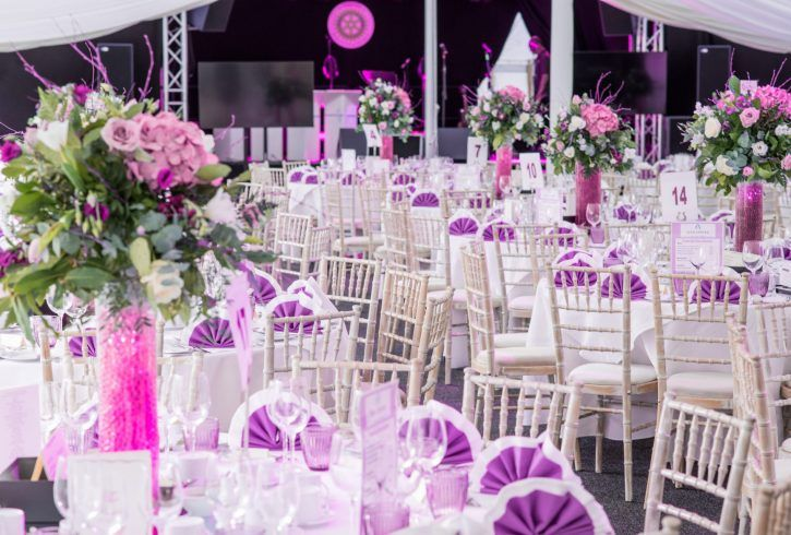 Outdoor reception layout