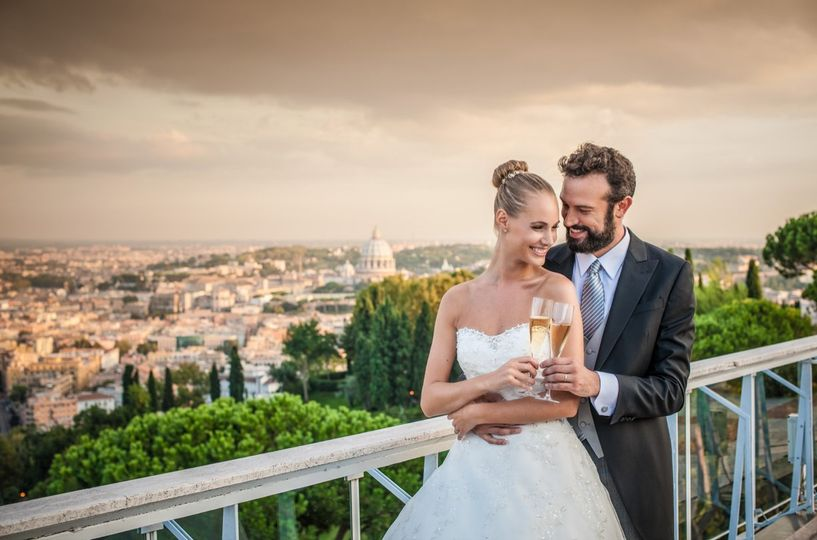 Rome Cavalieri Wedding