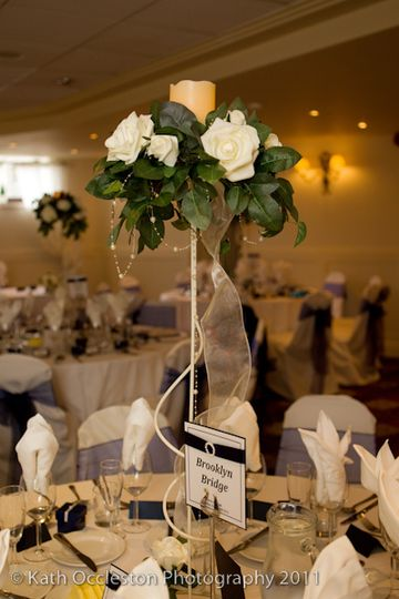 Candle and rose centre hire from £15