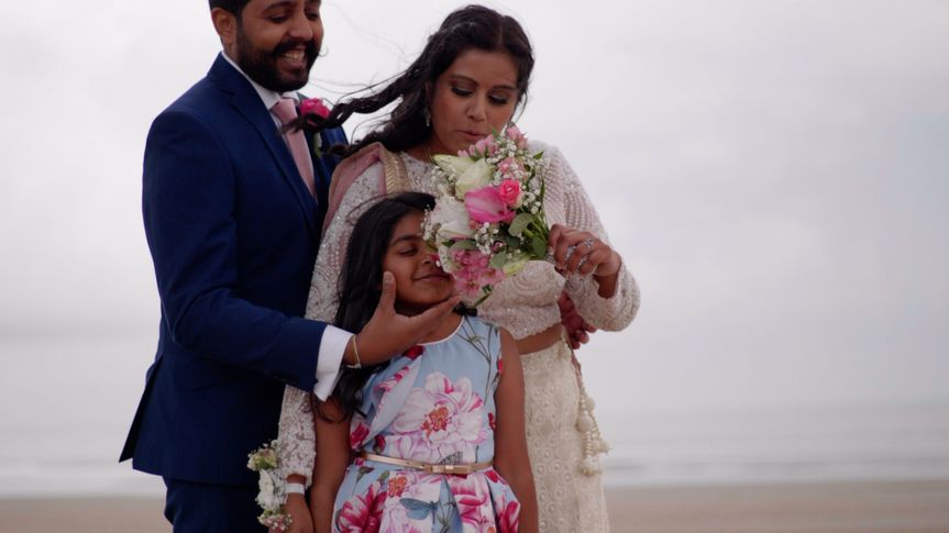 Swansea beach Asian wedding