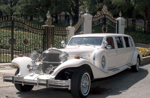 Excalibur white limo