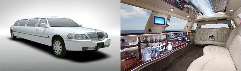 Lincoln white limousine