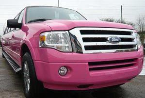 Pink limousine