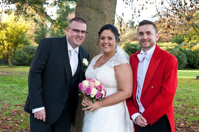 Together with the happy couple