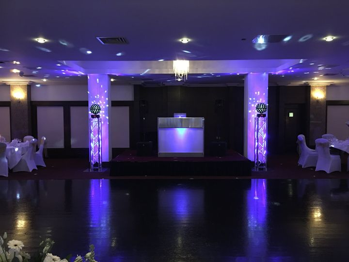 DJ Setup with Uplighting