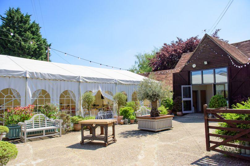 Monkton Barn in the sunshine