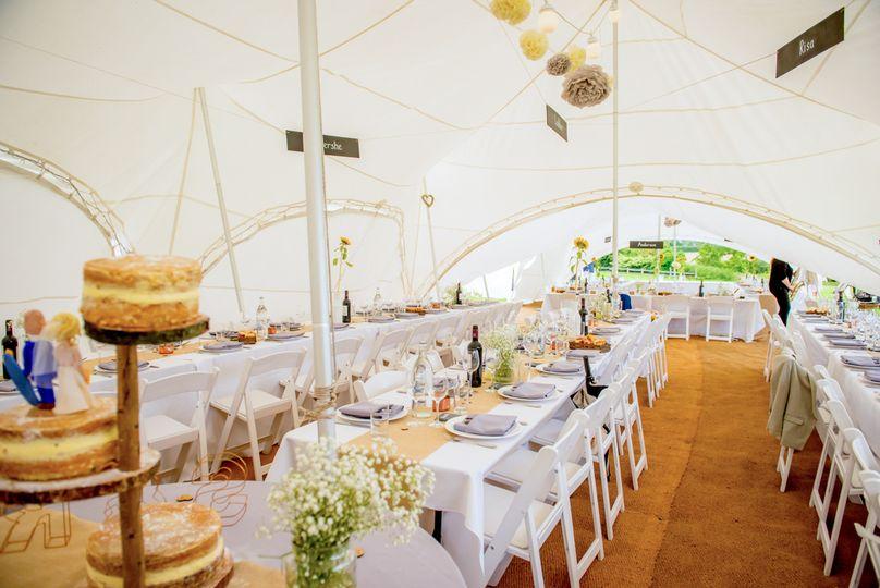 Beautiful wedding marquee