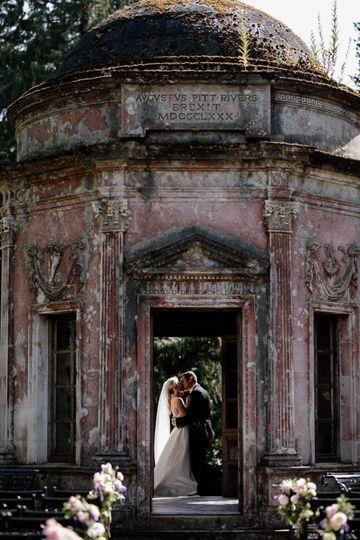 Temple wedding at Larmer Tree