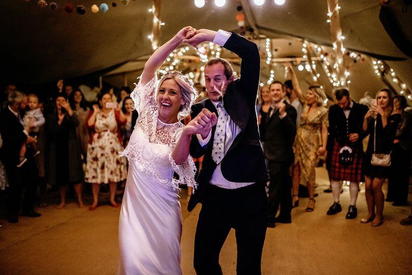Tipi woodland wedding