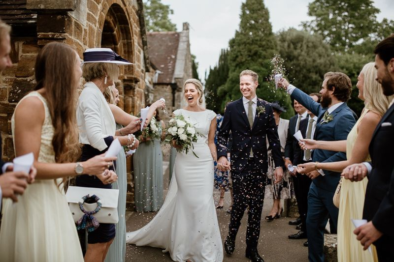 Rural church wedding in Dorset