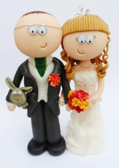 Bride & Groom with rabbit