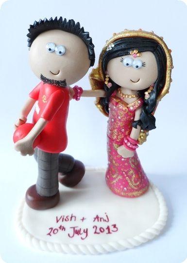 Asian wedding cake topper