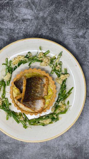 Sea bass tart