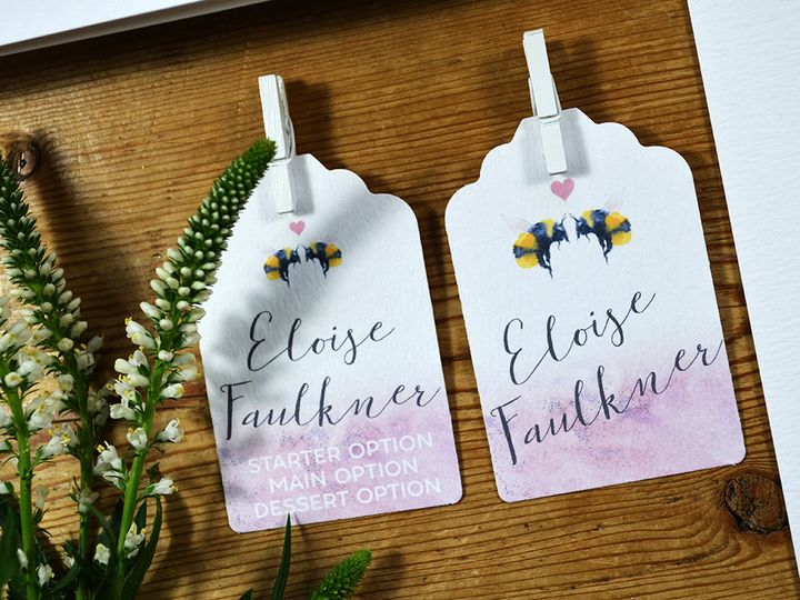 Bee Loved Name Tags